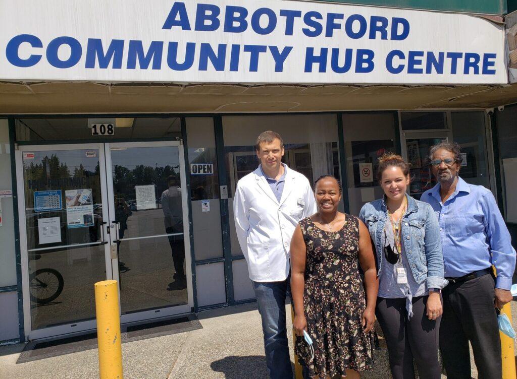 Hub Pharmacist Ivan, Nurse Practitioner Judith, Phoenix Society Medical Outreach Amber, Blood Borne Disease Specialist Dr. Farley
