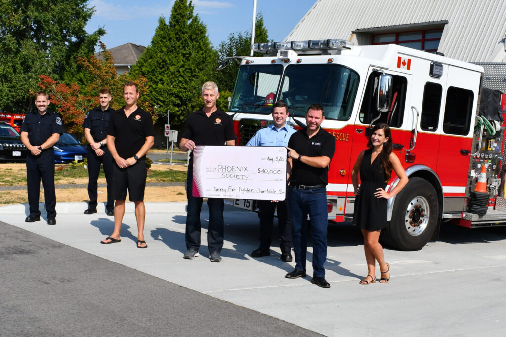 Read more on Surrey Fire Fighters donate $40,000 to Phoenix Society for new youth mental health program